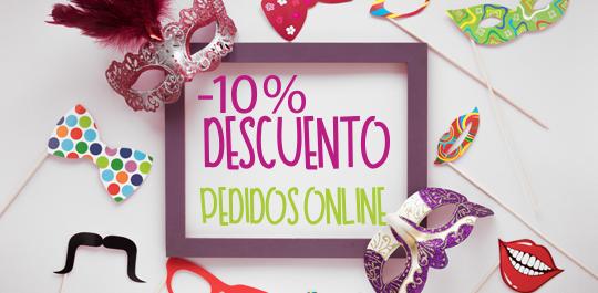 10% de descuento en pedidos online